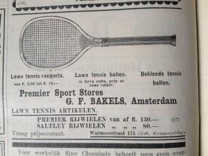 Advertentie rackets en ballen