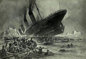 'Untergang der Titanic' door Willy Stöwer