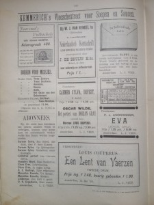 Advertentiepagina 11 oktober 1893