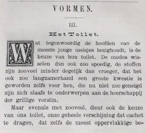 Het Toilet, 22 november 1893
