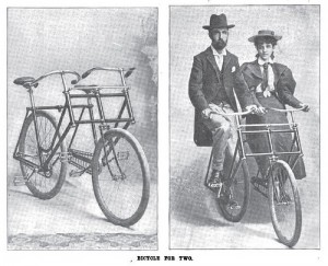 Sociable tandem (via wheelbike.blogspot.com)