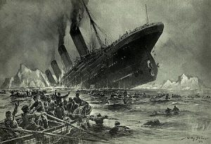 'Untergang der Titanic' door Willy Stöwer